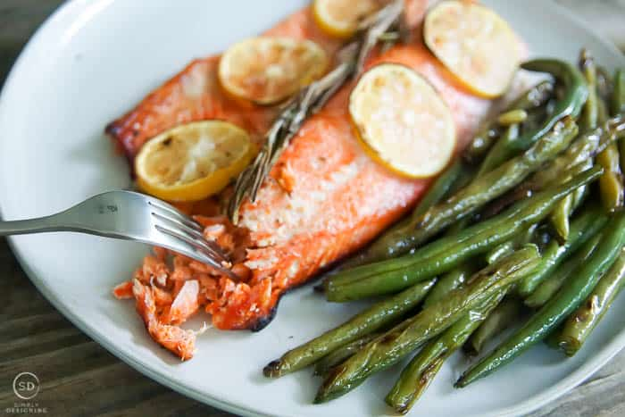 Flaky Honey Lemon Salmon