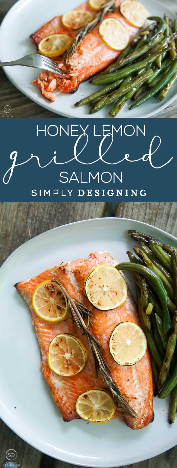 This honey lemon grilled salmon recipe is the perfect recipe to make salmon in foil with a delicious glaze recipe