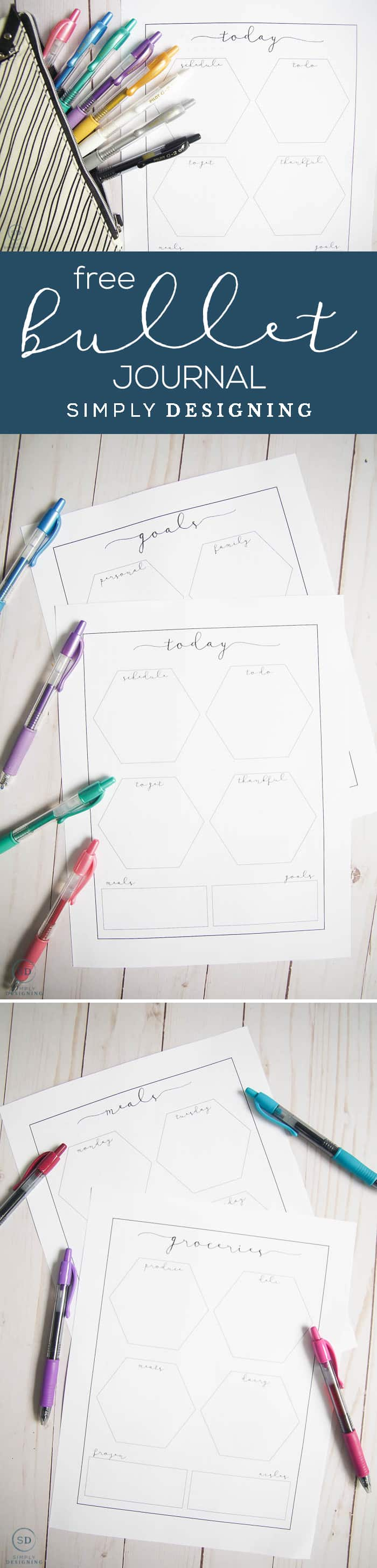 Easy and actionable bullet journal ideas plus free journal printables - the best way to curate a beautiful and mindful life