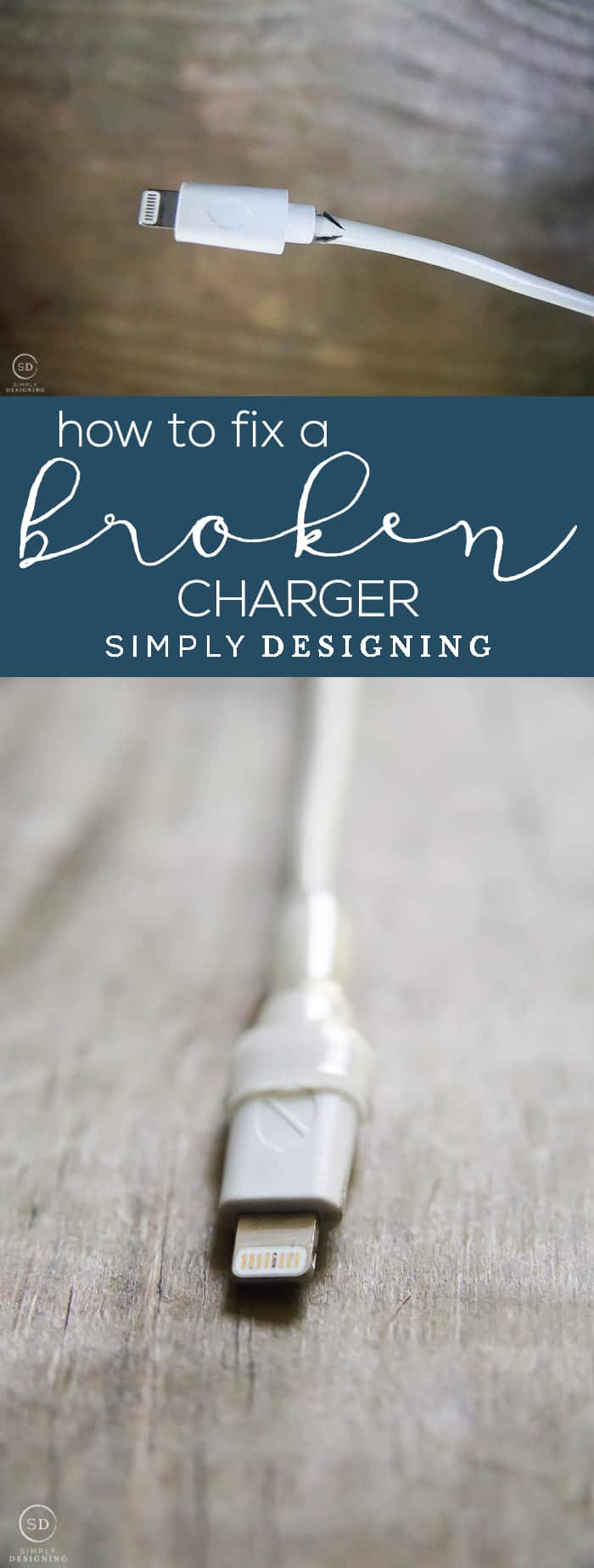 If you have any phone cords that are broken, or ones that are going bad, you need this post about how to fix a broken iPhone charger!