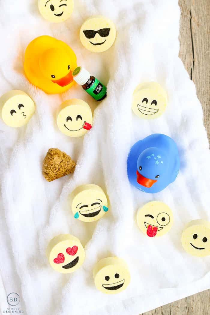 A top down view of the completed kids bath bombs. The final product of our how to make bath bombs tutorial.