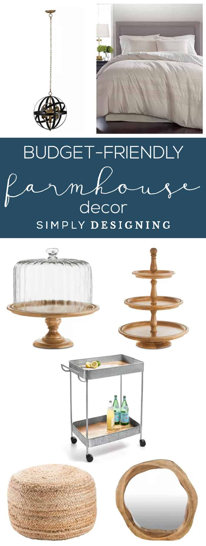 Budget Friendly Farmhouse Decor - Here are a few Budget Friendly Farmhouse Decor ideas to help you get a beautiful farmhouse look without breaking your budget