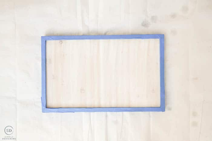 painters tape on frame