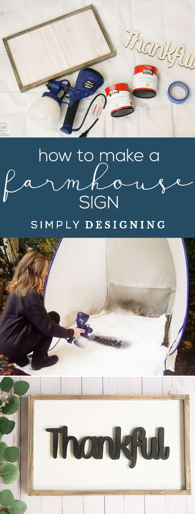 How to make a farmhouse sign - Save your time and money and make your own farmhouse sign instead of buying it with these tips for how to make a farmhouse sign