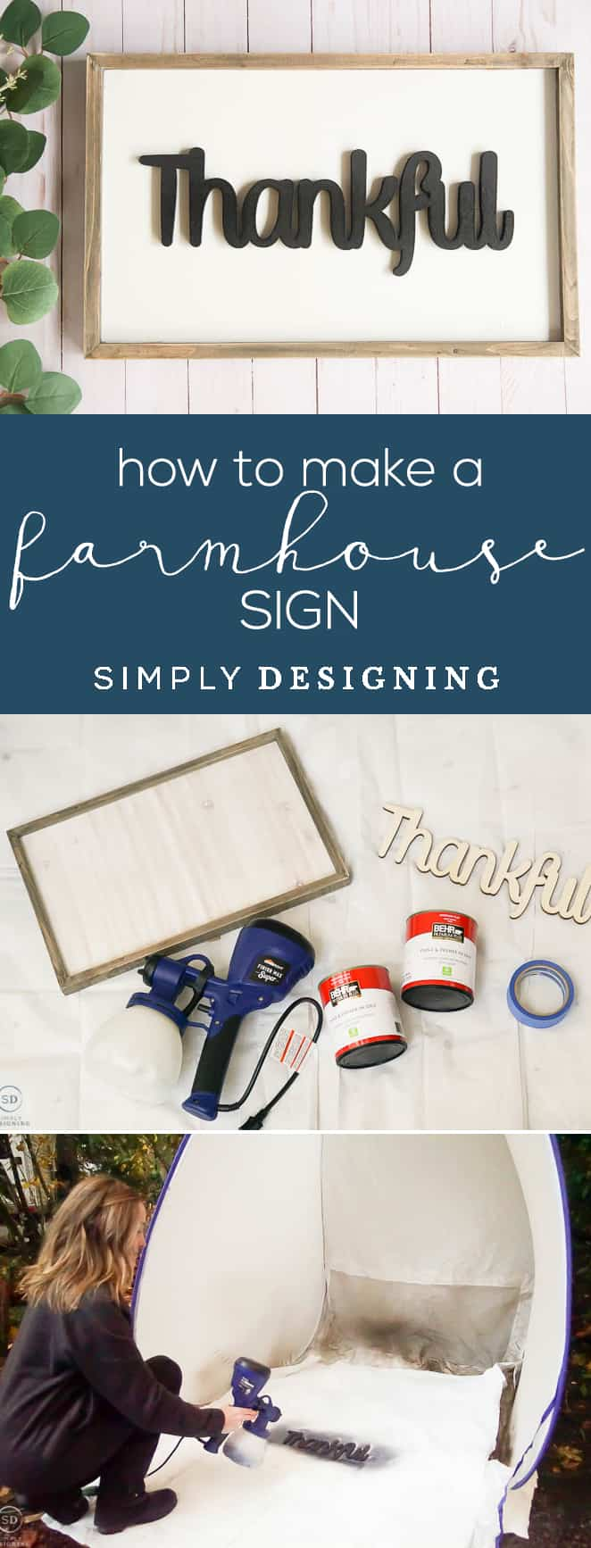 Save your time and money and make your own farmhouse sign instead of buying it with these tips for how to make a farmhouse sign