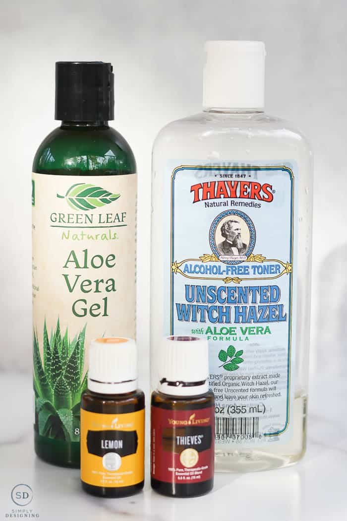 ingredients to make foaming hand sanitizer
