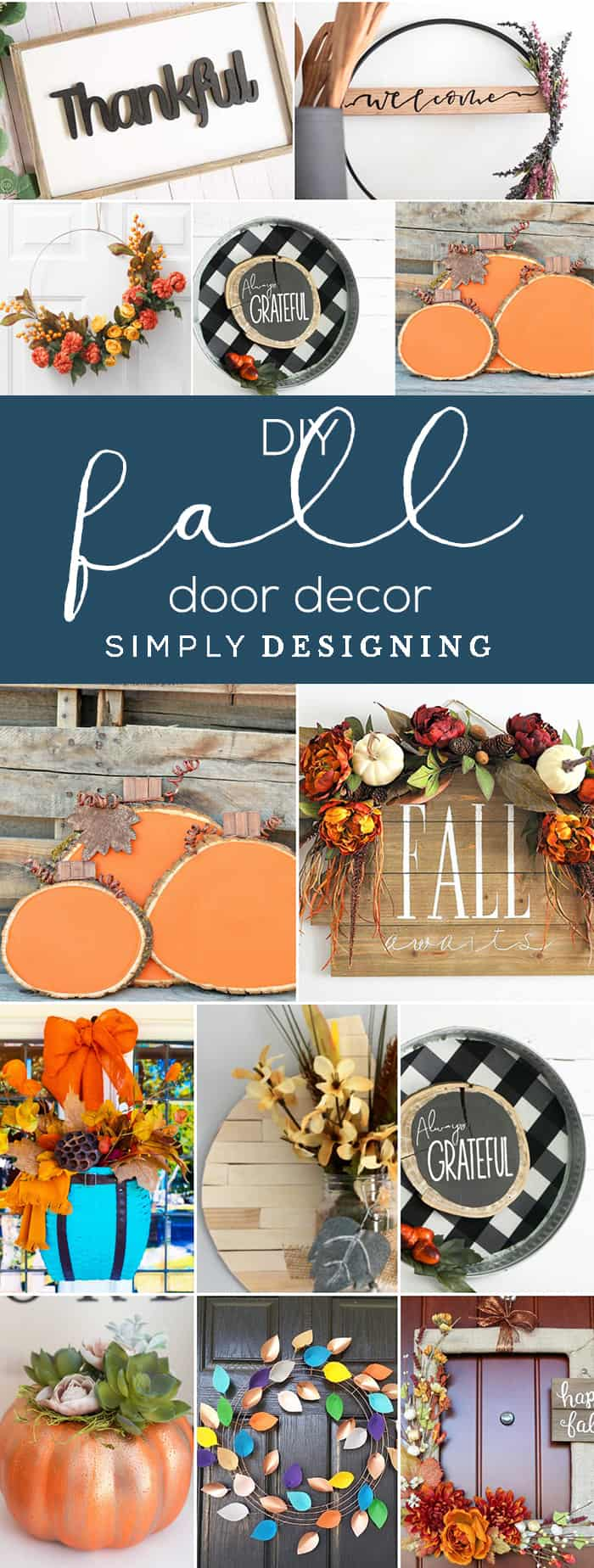 Fall Door Decorating Ideas