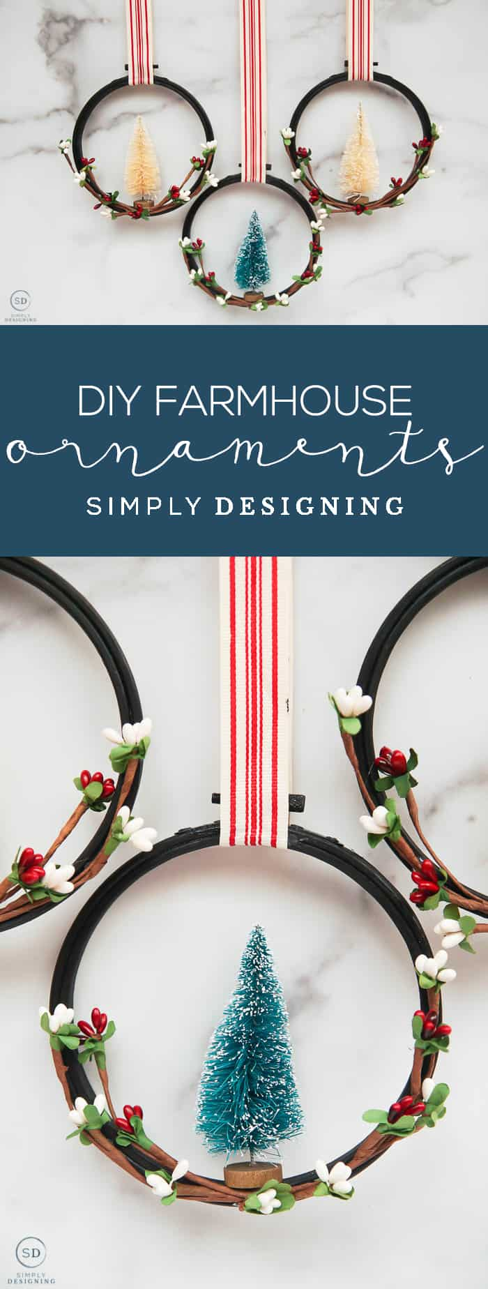 How to make Farmhouse Christmas Ornaments