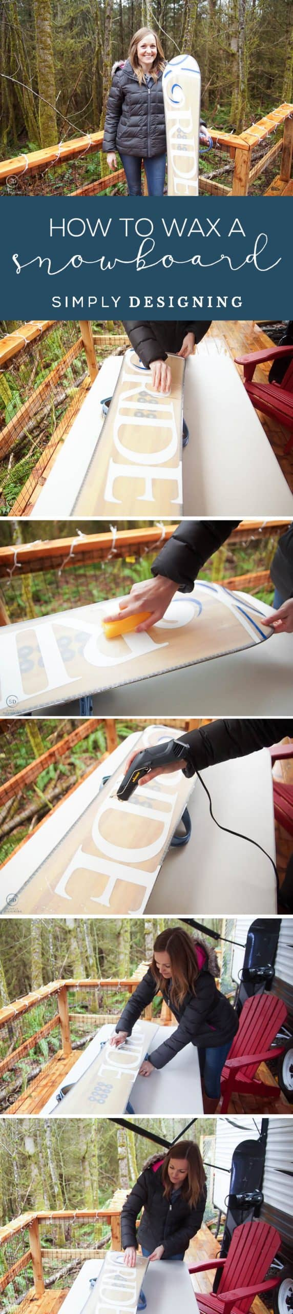 I am showing you How to Wax a Snowboard quickly so that your board will always be in good shape and you will be ready to fly down the slopes anytime