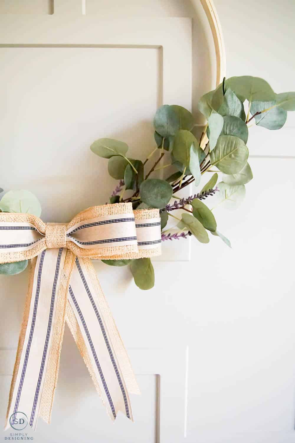 Summer Hoop Wreath with Eucalyptus and Lavender