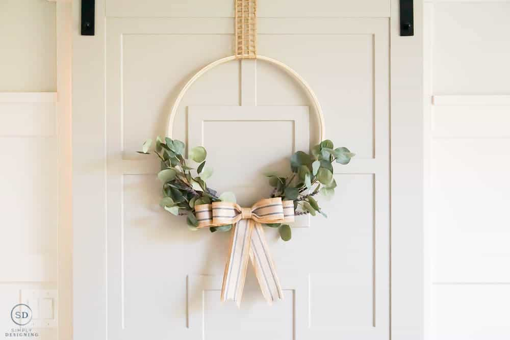 beautiful summer hoop wreath