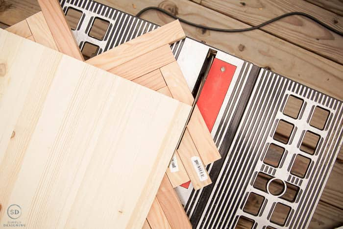 trim excess off tabletop with table saw
