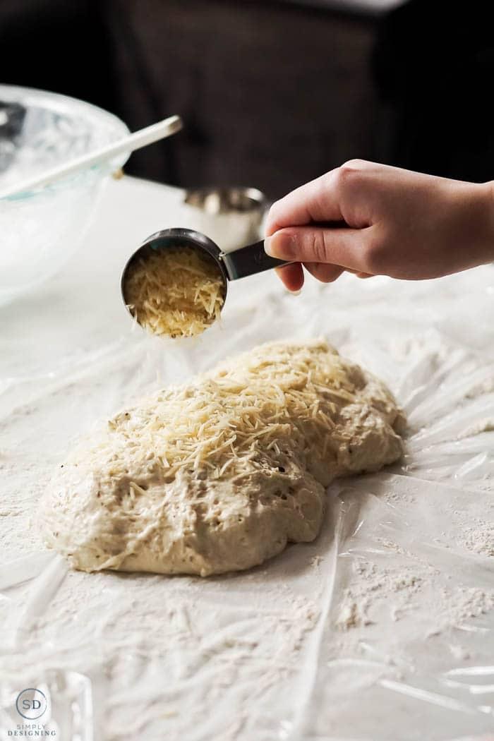add cheese to bread dough