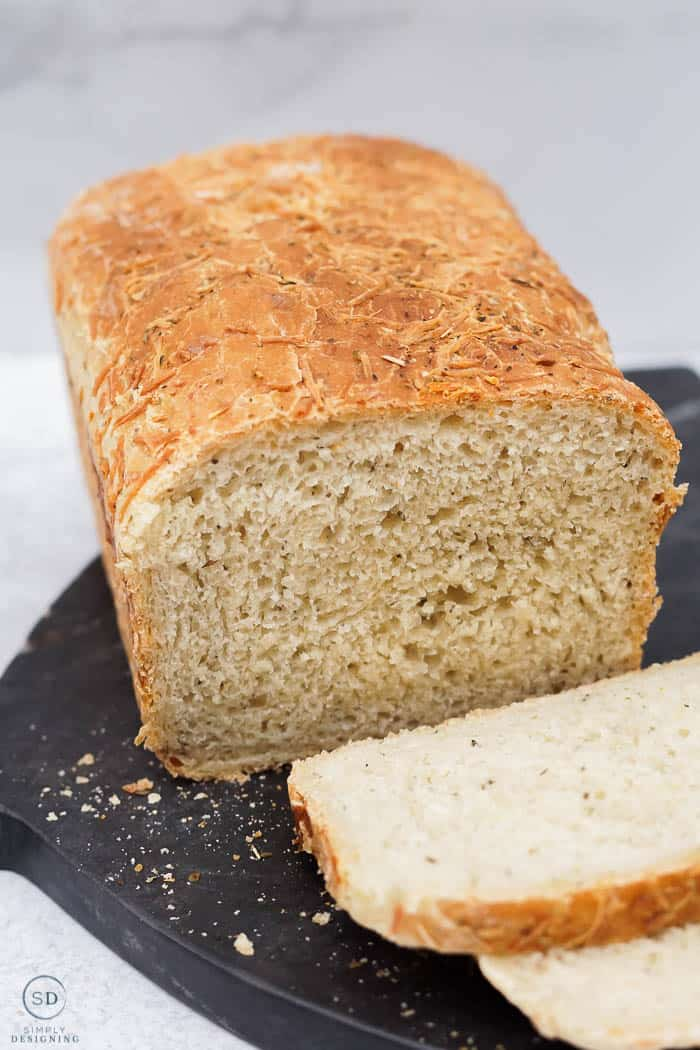 herb artisan bread sliced