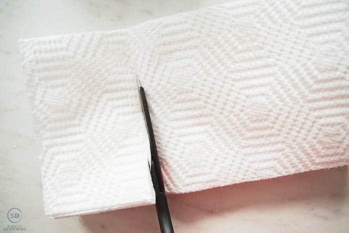 cut paper towels