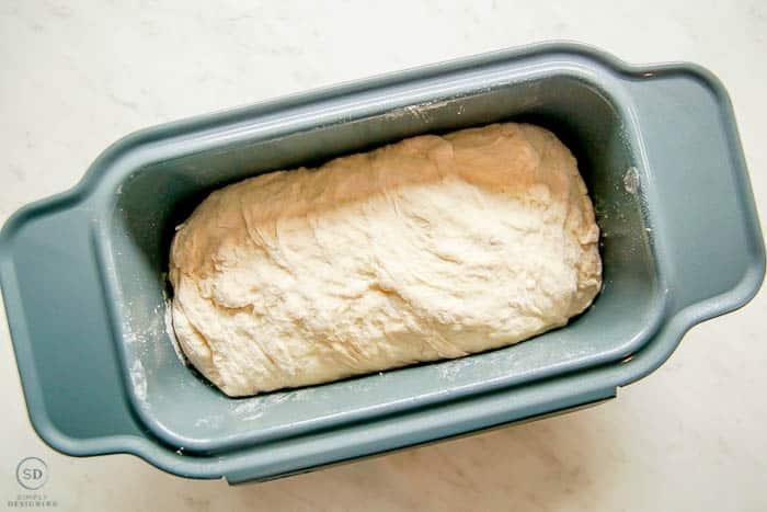 bread dough in bread pan