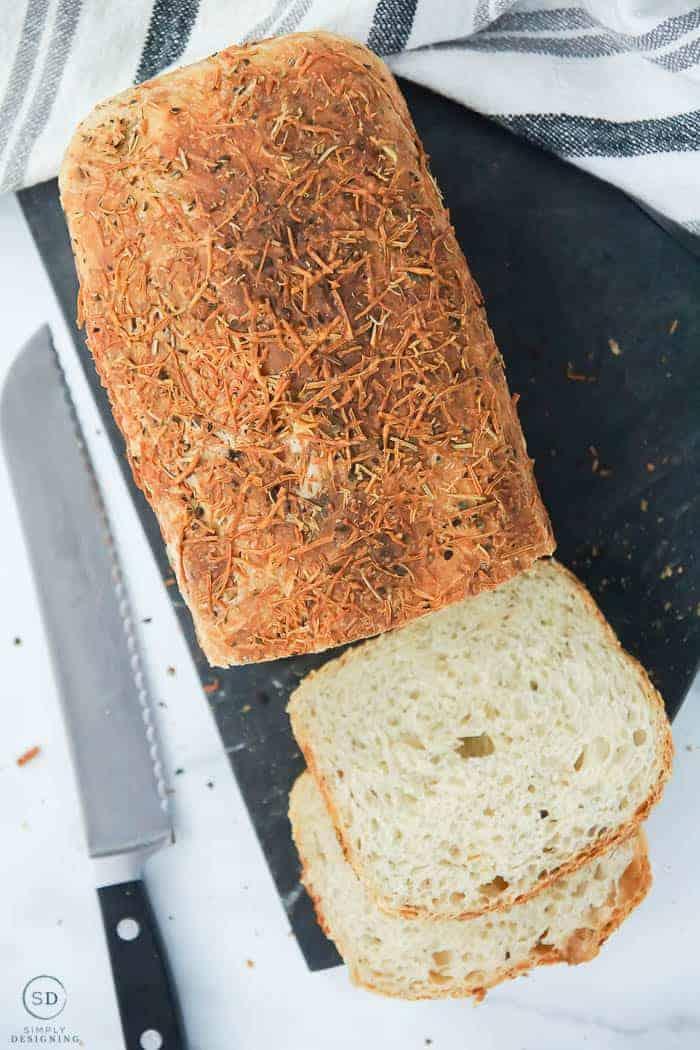 No-Knead Parmesan Rosemary Bread