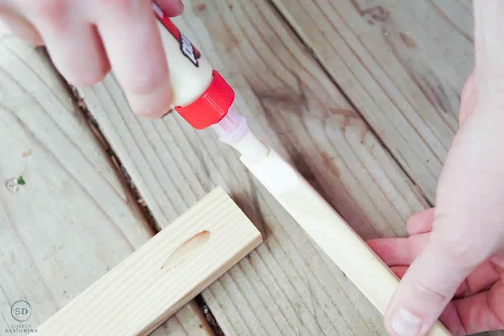 apply wood glue to wood
