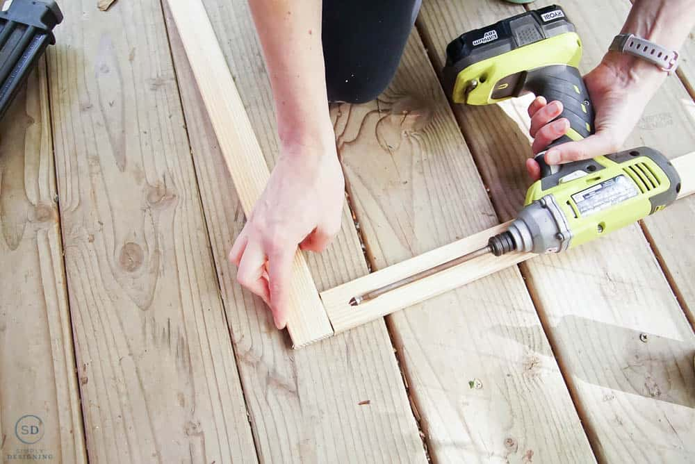create roof frame and use kreg jig to secure it together