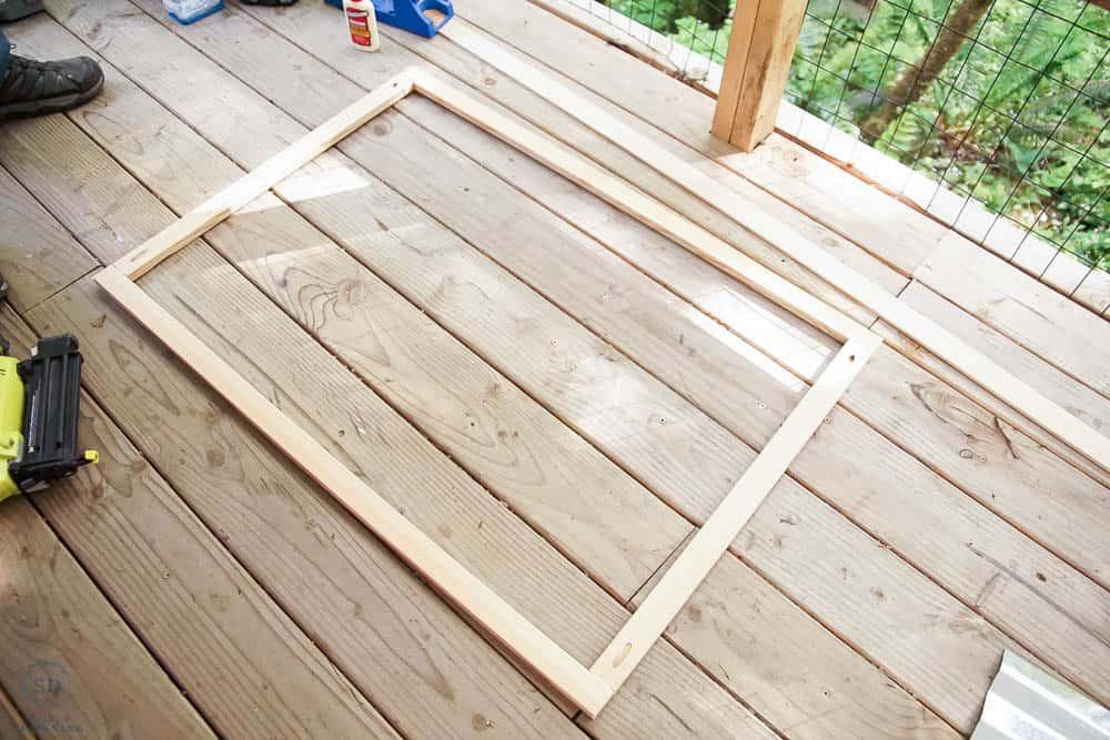 horizontal photo of roof frame