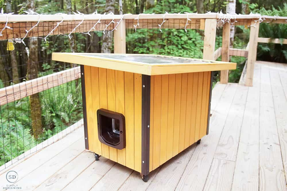 how to make a cat house - modern cat house finished