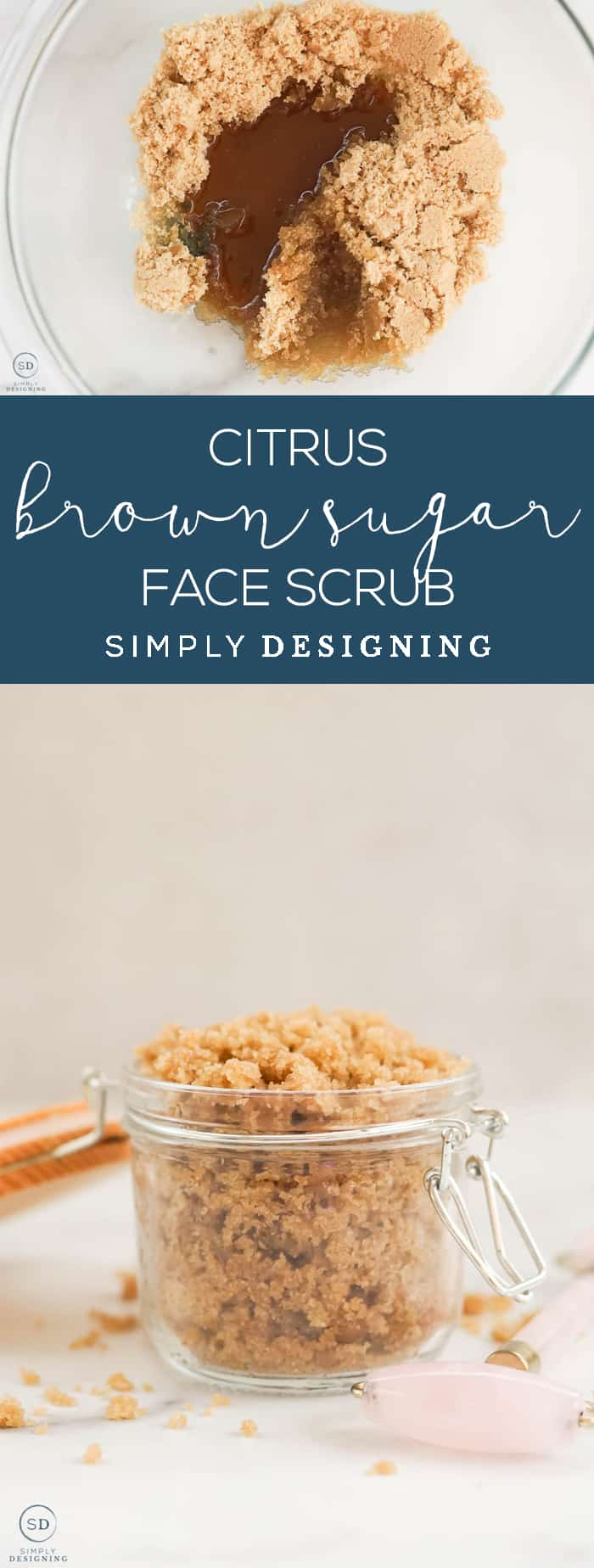 This citrus brown sugar face scrub is an all-natural way to exfoliate your face