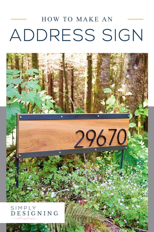How to make an Address Sign - DIY Address Sign