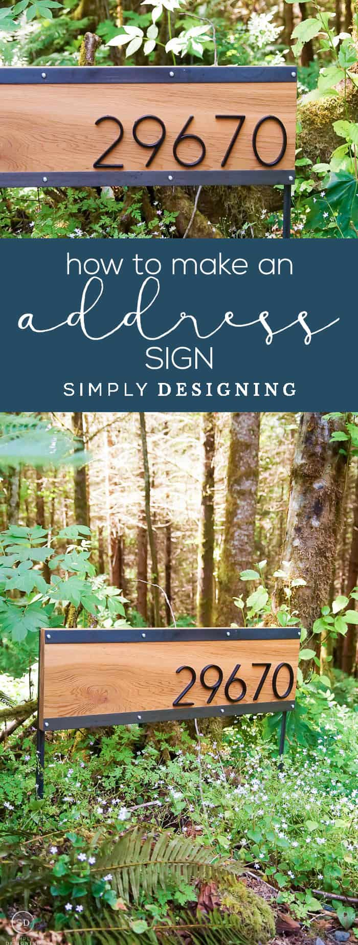 Learn how to make an address sign that is beautiful and modern in only a few easy steps so that you can create a unique lasting first impression