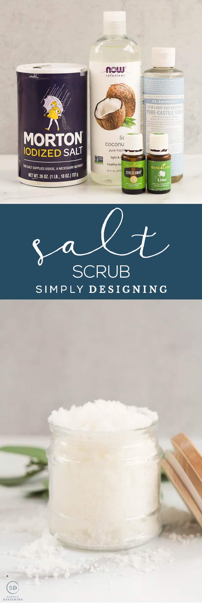 This delicious smelling all-natural Salt Scrub makes scrubbing and exfoliating easy and effective so you can enjoy silky smooth skin