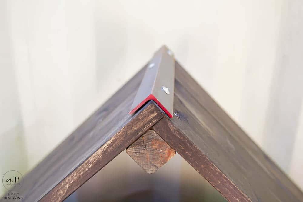 corner assembled for firewood holder