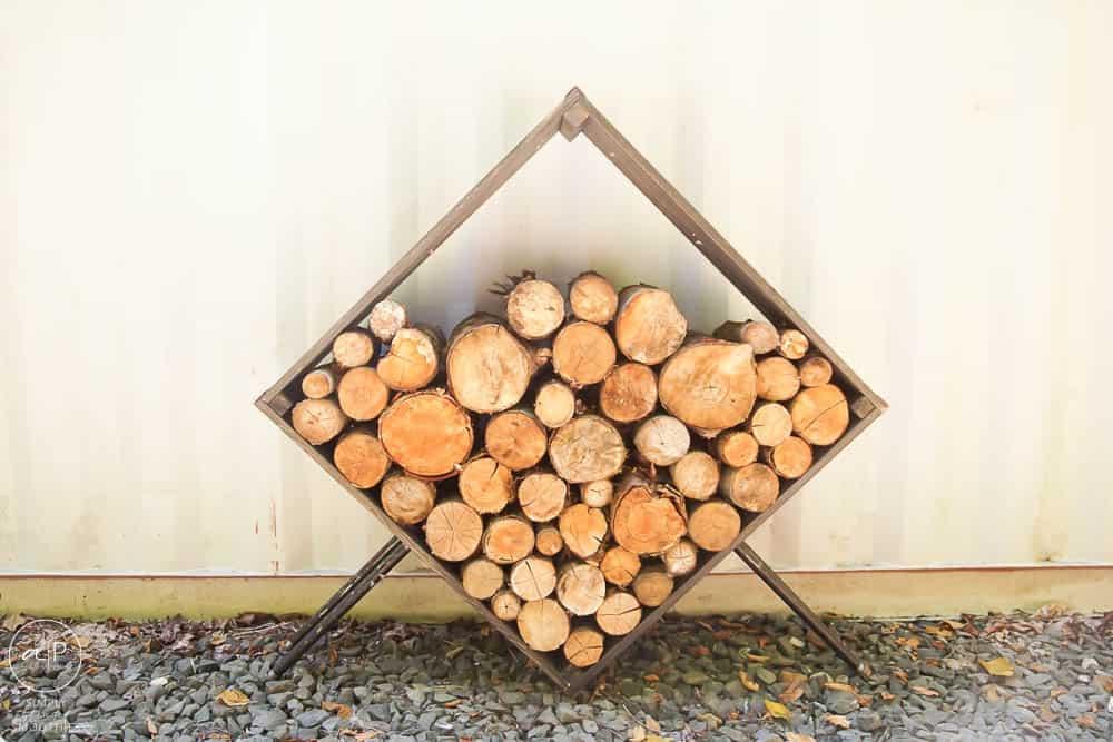 square firewood holder