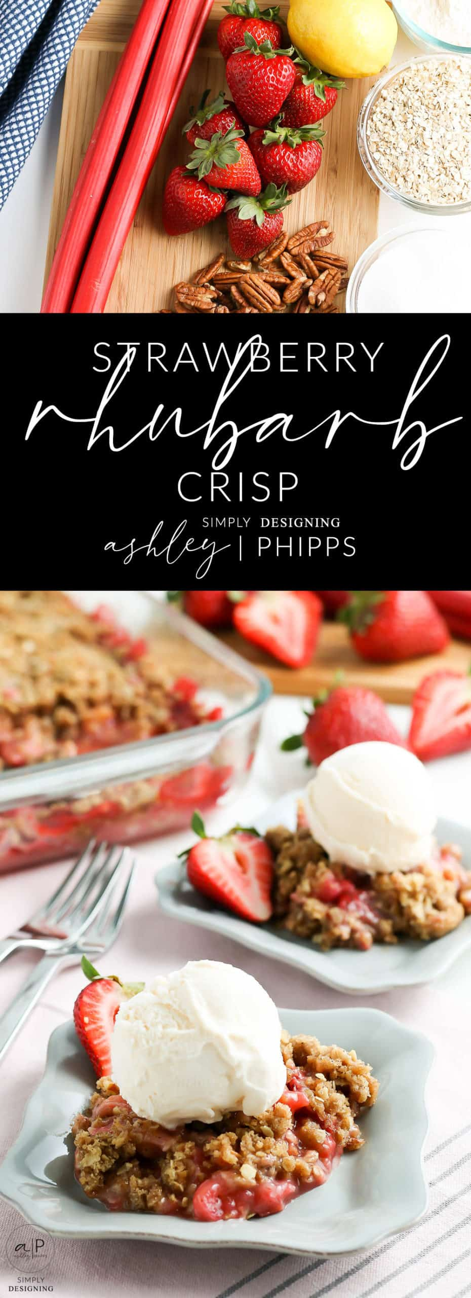 Rhubarb Strawberry Crisp - this crisp is sweet and a bit tangy and oh-so-delicious