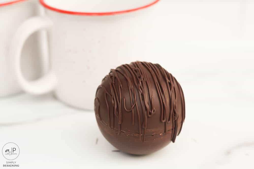 hot cocoa bomb with marshmallows